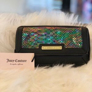 Juicy Couture Iridescent Snake Skin Wallet